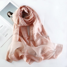 купить 2019 Luxury Brand Women Scarf Winter Silk Scarves Lovely Dragonfly Shawls Wrap High Quality Pashmina Neck Scarf Bandana hijab дешево