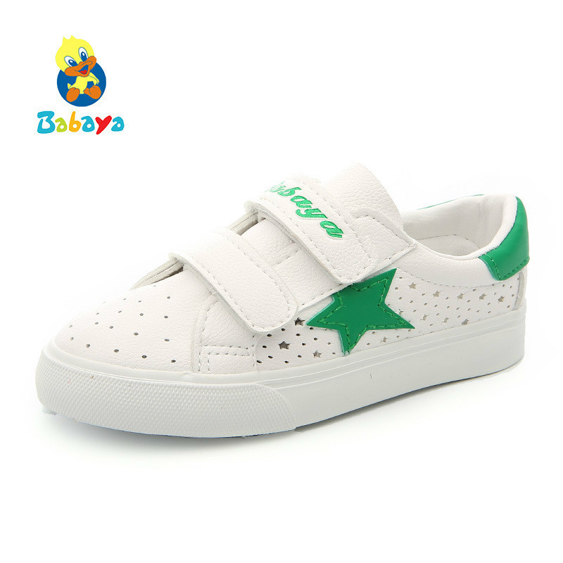 Children Sports Shoes For Girls Casual Shoes Small White Shoes Breathable PU 2018 Spring Summer New Fashion Kids Sneakers