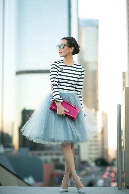 69e9ebc4ae Free Shipping New 2017 Crystal Belt Tutu Tulle Skirts Midi skirt ...