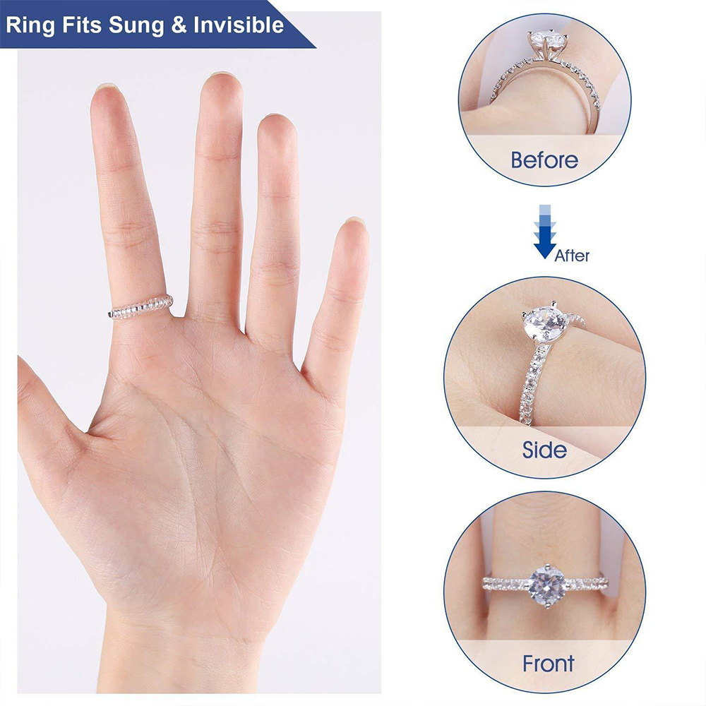 Invisible Tighteners Reducer Resizing Tools Adjuster Pad Ring Size Adjuster Set