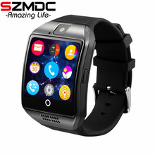 Купить с кэшбэком SZMDC Bluetooth Smart Watch Men Q18 With Touch Screen Big Battery Support TF Sim Card Camera for Android Phone Smartwatch