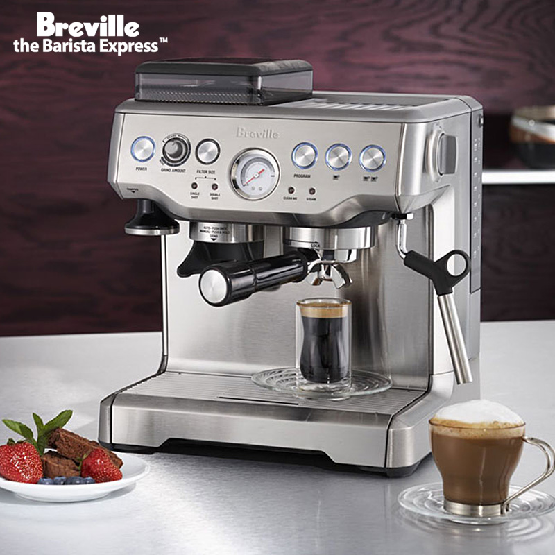 High pressure steam coffee machine of Breville rich BES870 automatic espresso coffee machine-in ...