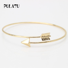 2 Color Arrow Bracelets for Women Minimalist Adjustable Charm Bracelet Jewelry Wholesale PULATU SZ0276