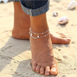 Simulated Pearl Infinity Ankle