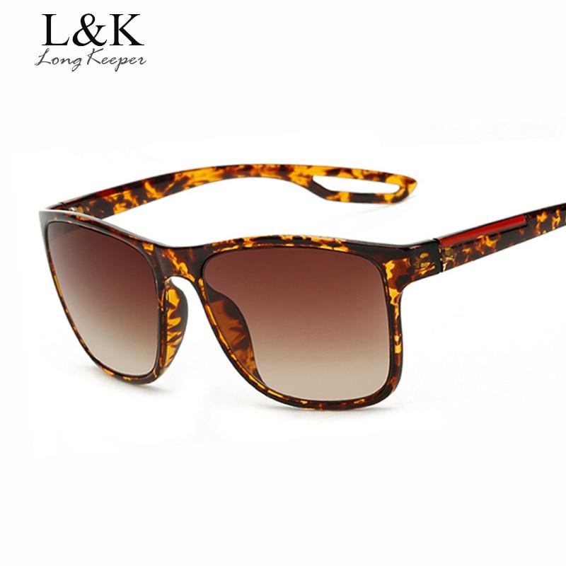 Long Keeper New Arrival Fashion Women Square Sun Glases Leopard Men's Driving Eyewears Hot Sale Unisex Sunglasses gafas LK8084