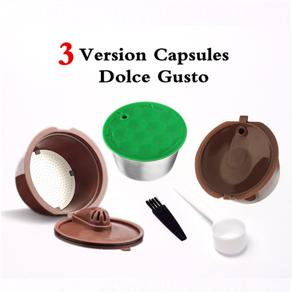 ICafilas 3 Versions Dolce Gusto Coffee Filters Cup Refillable Reusable Dolci Gusto Coffee Tea Capsule Pods Baskets Dripper