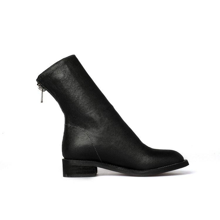 blanc Cuir Plat Taille Femmes Grande Cheville Chaussures Pour Bottes Botas Mujer Nouveau Invierno D'équitation En Zapatos D'hiver 43 2018 {zorssar} Véritable Noir 4Sq11I