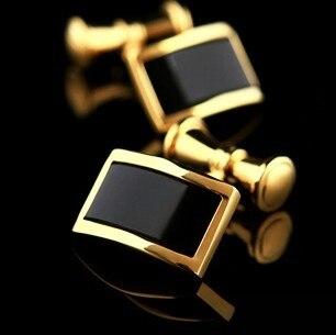 Nuevo diseño del precio de fábrica los hombres de moda al por menor  material de cobre de las mancuernas cuadrado diseño de cristal negro  gemelos envío ... 1dc78d7fb5b