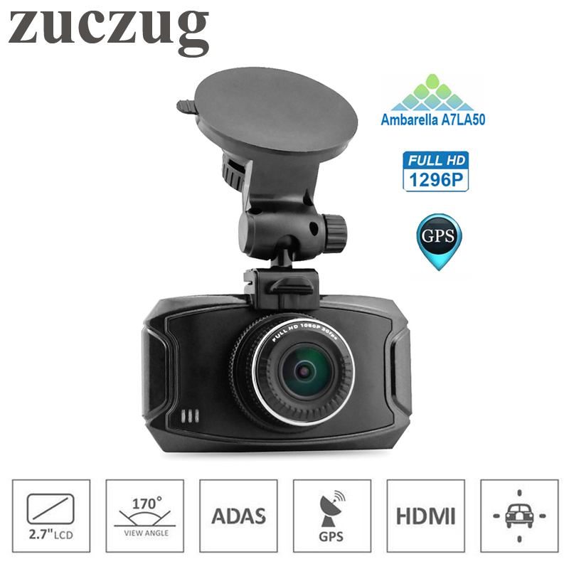 ZUCZUG ADAS Car DVR Mini Car Camera Ambarella A7LA50 Full HD 1296P 170 Degrees Wide Angle with G-Sensor GPS Car DVR Dash Cam teeze 4pcs new billet 5 lug 14 1 5 studs wheel spacers adapters for audi q7 2006 2014