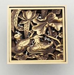 ФОТО Antique Copper Anti-odor Square  Mandarin Ducks Bathroom Accessories Sink Floor Shower Drain Cover Luxury Sewer Filter K-8856