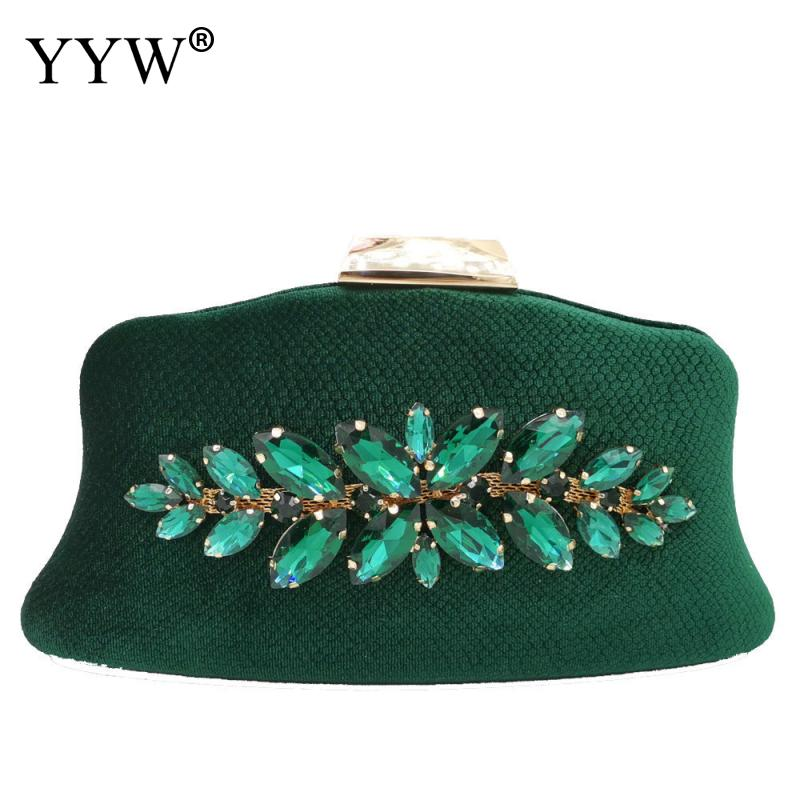 Pink Evening Party Clutch Bag Unique Clutch Female 2019 With Rhinestone Green Wedding Bags Clutch Female Evening Bolsa Feminina in Top Handle Bags from Luggage Bags