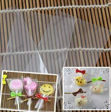 100 Pack Big Clear Top Open OPP Plastic Bag for Lollopop Chocolate Candy Cake and Ice-lolly, No adhesive Baking Packaging Pouch