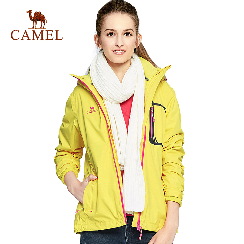 CAMEL Women's Autumn Winter 2-Layer Outdoor Jacket Waterproof Windproof Thermal Climbing Camping Hiking Female Coat cqb winter men two piece set outdoor jacket waterproof windproof mountaineering coat camping hiking thermal jacket