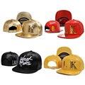 Último rei snapback tampas camo couro boné de beisebol gorras ossos aba reta hip hop chapéus para homens e mulheres 005c