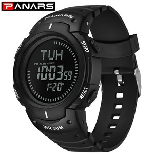 Image 3 - PANARS Compass Watch Sport Outdoor Men Watch Digital Electronic Wrist Watches Male Stopwatch Chronograph Shockproof Waterproof
