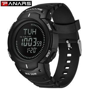 Image 3 - PANARS boussole montre Sport plein air hommes montre numérique électronique montres bracelets mâle chronographe chronomètre antichoc étanche