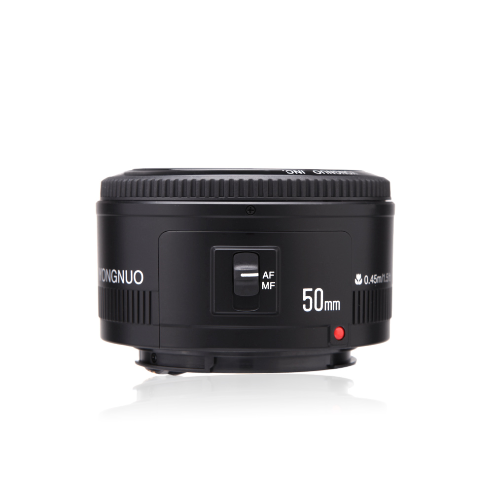 D'origine YONGNUO 50mm f1.8 Caméra Lentille lentilles Grande Ouverture Auto Focus pour Canon 5DII 5 DIII 5D 500D 400D 650D 600D 450D 60D 7D - 6