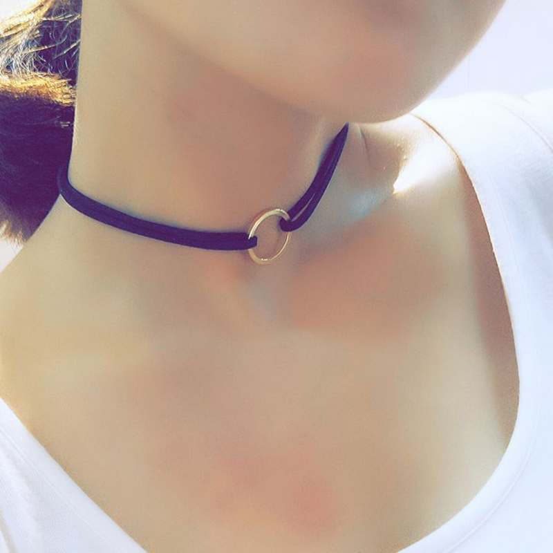 3Pcs/set Double Layer Black Velvet Choker Necklace Gold Round Pendant Retro Gothic Chockers Jewelry Ladies Neckless #87053