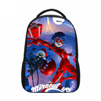 VEEVANV Anime Miraculous Ladybug School Backpack Girls Shoulder Bag Printing Cartoon Cat Noir Adrien Marinette Children
