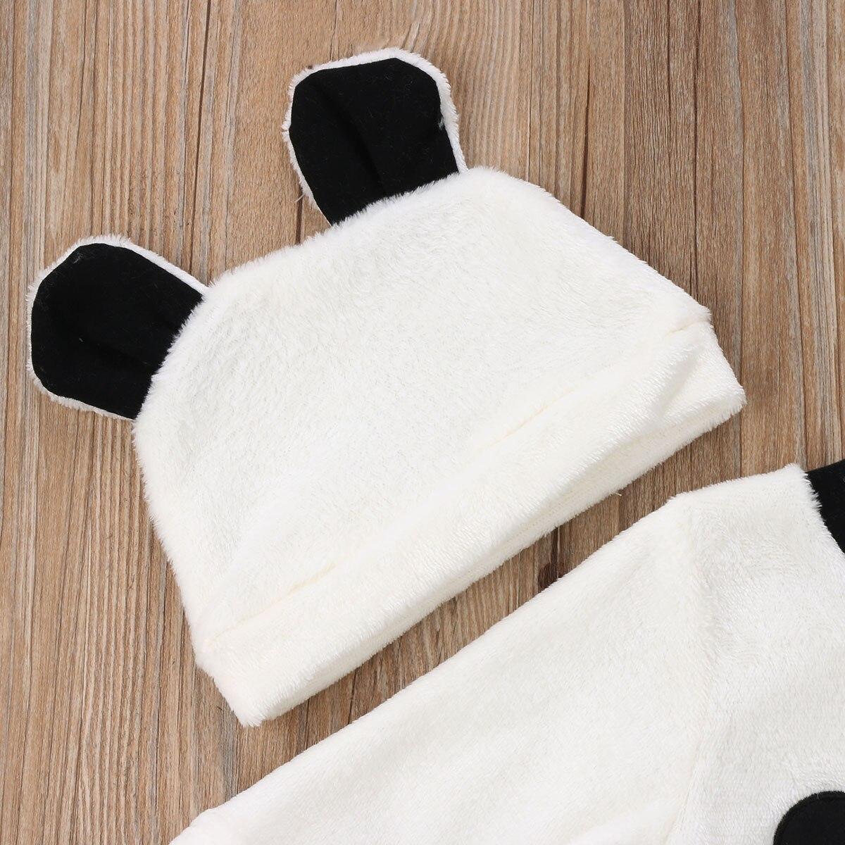 Mode Neugeborenes Mädchen Jungen Langarm Tops Hosen Outfits Reihe Flauschige Warme Kleidung