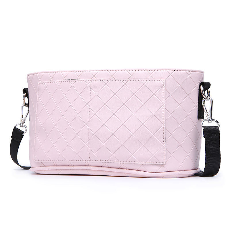 Fashion Mother Stroller Bag Pink Stripe Women Diaper Bag Portable Reusable Wet Bag Travel Wet Dry Bags Mini Size 23*14cm