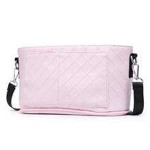 Fashion Mother Stroller Bag Pink Stripe Women Diaper Bag Portable Reusable Wet Bag Travel Wet Dry Bags Mini Size 23*14cm