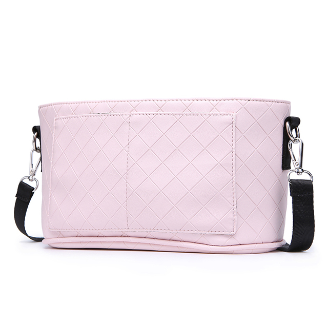 Fashion Mother Stroller Bag Pink Stripe Women Diaper Bag Portable Reusable Wet Bag Travel Wet Dry Bags Mini Size 23*14cm | Happy Baby Mama