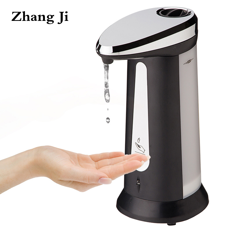 ZhangJi Induction Type Liquid Soap Dispenser Kitchen ABS Electroplated Automatic Smart sensor Soap Dispenser Free Shipping