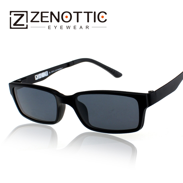 64c45930e7 Zenottic 2018 Designer Men Magnetic Clip On Polarized Sunglasses Ultem  Temple Super Ultra-Light Optical Frame Eyeglasses Dt143