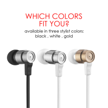 Wallytech Smart Steel W805 Performance In-Ear Earphones with Built-In Microphone for Apple iOS for Samsung Android