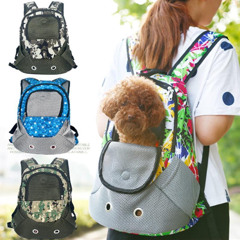Best Pet Carrier Shoulders Back Front Pack Dog Cat Travel Bag Mesh Backpack Head out Design Travel Adjustable Shoulder Strap
