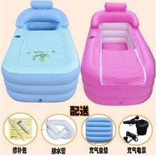 Adulte Spa pliage Portable baignoire gonflable bain baignoire avec coussin + Pompe Électrique