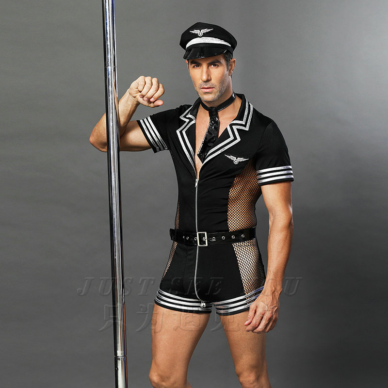 6609 Kostum za noč čarovnic Odrasli Amerika Ameriška policija - Karnevalski kostumi