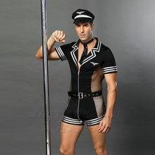6609 هالوين ازياء الكبار أمريكا ضابط شرطة الشرطة القذرة ازياء الأعلى قميص يتوهم تأثيري الملابس للرجال