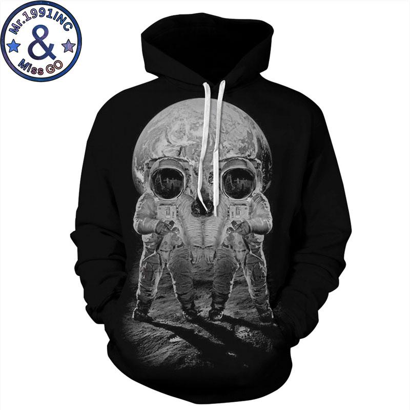 Astronaut Skull Hoodie Sweatshirt Men/Women 3D Hoodies Sweatshirts Halloween Cosplay Hip Hop Hoody Hooded Tracksuit Sweat Homme