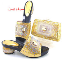 Hot High Quality Nigeria Wedding Shoes Italian Design Shoes And Bags Set To Match Free Shipping