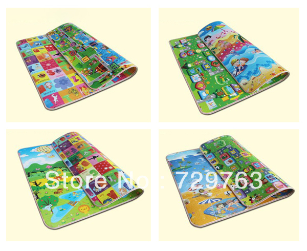 Epe Foam Double Sided Patterns Baby Play Mat For Kids Rug Carpet