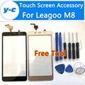 Leagoo M8 Сенсорный Экран 100% Новый Digitizer Сенсорный Стеклянная Панель Замена Для Leagoo M8 Смартфон в Наличии