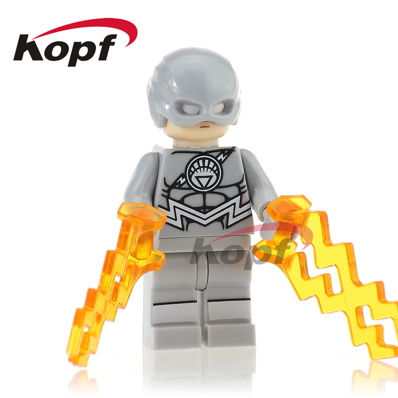 PG267 Super Heroes White Lantern Flash Invisible Man Strange Mini Dolls Building Blocks Action Figures Bricks
