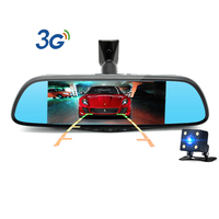 3G 7 inch Special Android 5.0 Car DVR Dual Lens Full HD 1080P Bluetooth WIFI FM GPS navigation ROM 16GB Camera Rearview mirror