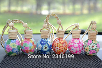 10ML30pcs/lot Vintage Style Polymer Clay Perfume Bottle,Liquid Refillable Bottle,Charming Pendant Decoration, Personalized Gifts