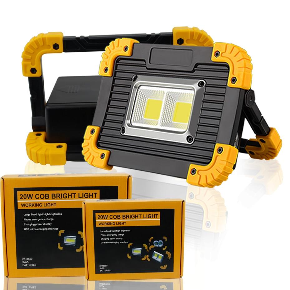 Outdoor LED COB Work Light Waterproof USB Rechargeable