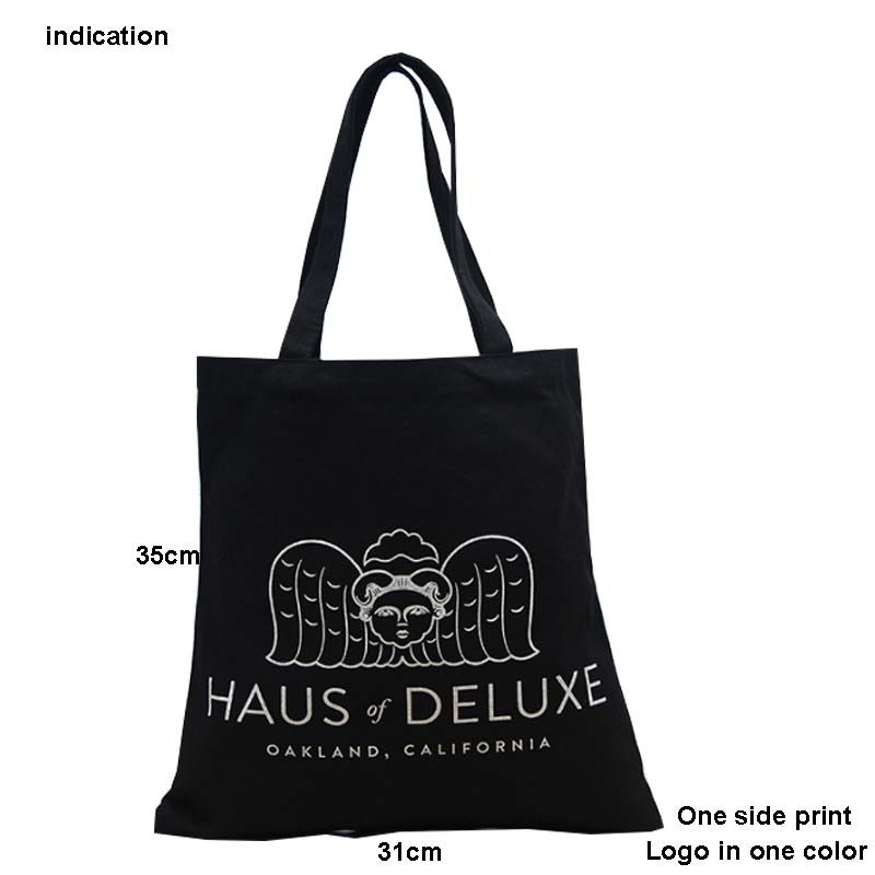 100Pcs/Lot Size 35*31Cm Canvas Cotton Tote Bag Customized Logo Eco Company Advertising University Activity