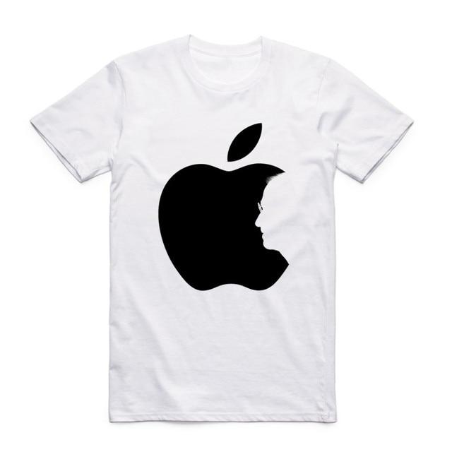 Fashion Men Women Print Steve Jobs Apple Design Classic T-shirt Short Sleeve O-Neck Summer Casual Top Tee Funny T Shirt  1