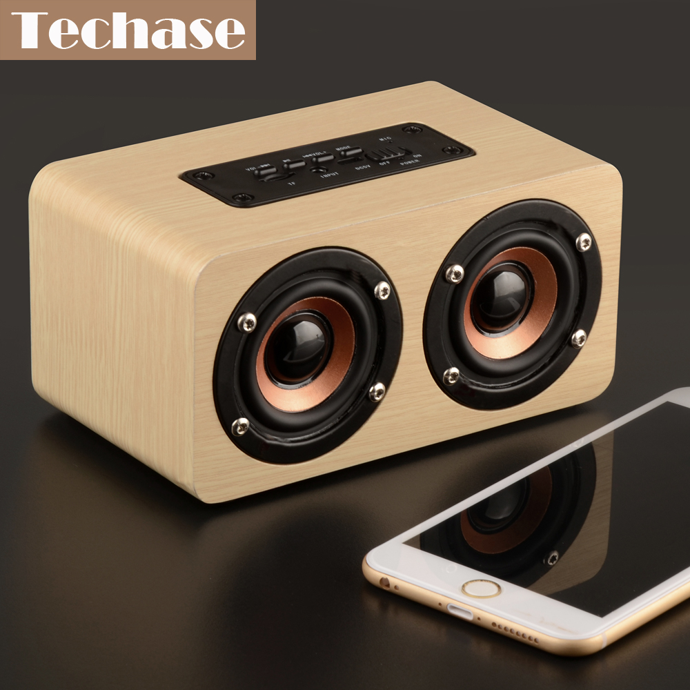 Techase Bluetooth Lautsprecher Bamboo Caixa De Som Drahtlose Mini - Tragbares Audio und Video - Foto 6