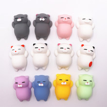 Mini Change Color Squishy Cute Cat Antistress Ball Squeeze Mochi Rising Stress Relief Funny Gift Decompression Toy Dropship(China)