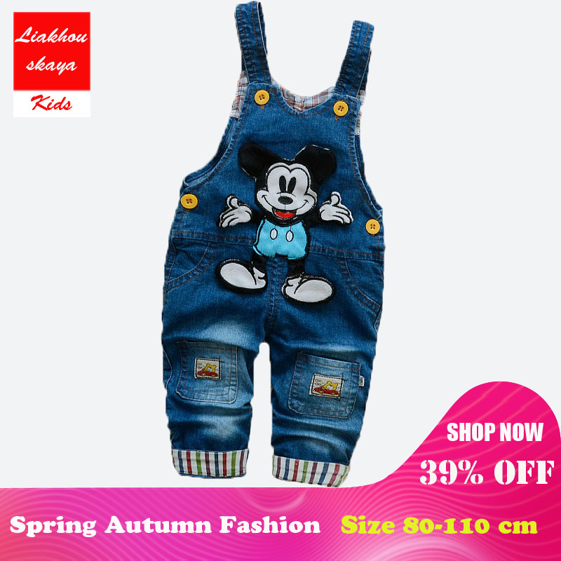 de0b40950a24 Liakhouskaya 2018 Baby Clothes Boys Girls Denim Overalls Toddler Kids  Rompers Cute Cartoon Bebe Jumpsuit Bib Jeans Pant Clothing