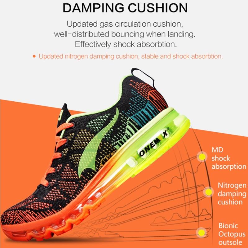 ONEMIX Air course chaussures pour hommes femmes 97 respirant maille athlétique plein Air Jogging baskets Max 12.5 - 4