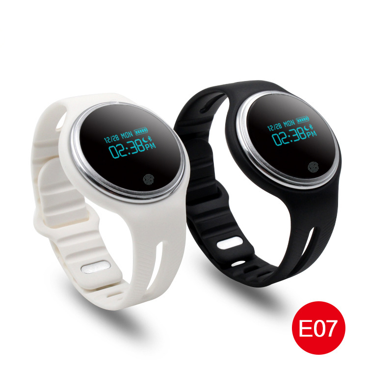 Hot E07 Bluetooth Sports Smart Bracelet Pedometer Fitness Tracker Smartband Call Reminder for Android iOS Phones