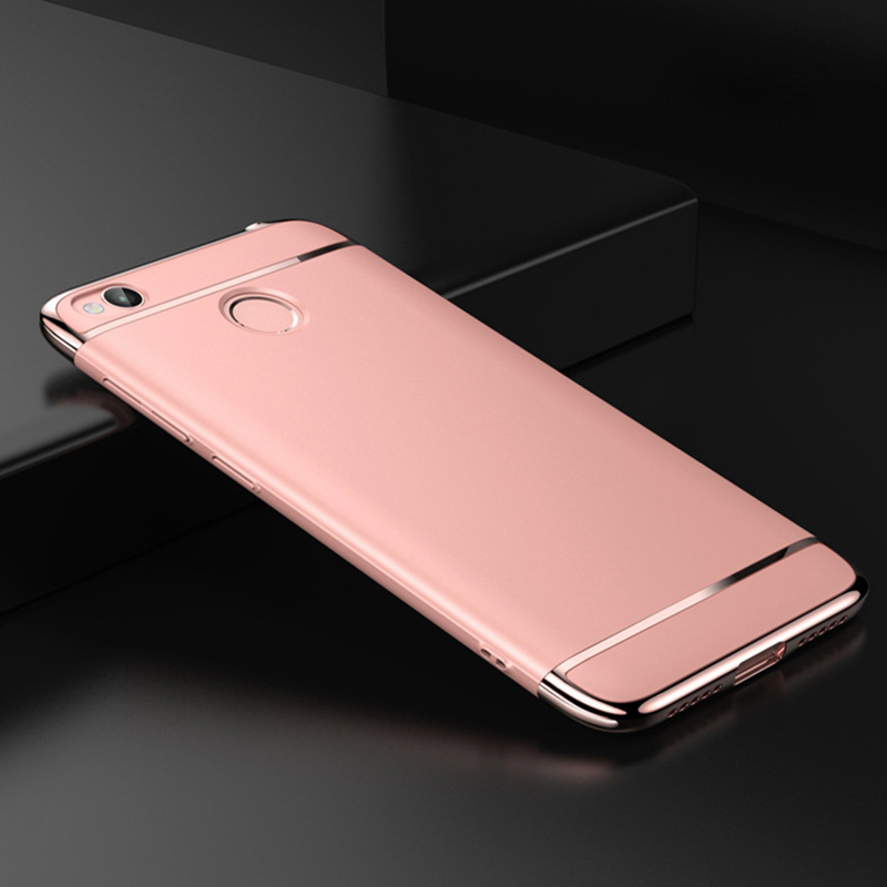 OLLIVAN Case For Xiaomi Redmi 4x Case Armor Hard Metal Plating Back Cover For XiaoMi Redmi 4X X Shell Hybrid Case RedMi 4X